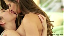 College teen lovers Cassidy Klein and Aria Alex... thumb