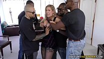 Cherie DeVille gets gangbanged by big black cocks thumb