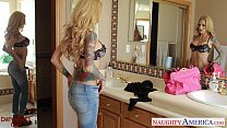 Ultra sexy blonde wife Sarah Jessie gets facial... thumb