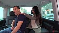 Thai massage in driving car turns to wild hardc...
