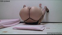 Peeping Japanese Babe Open-wide Leg Stretch