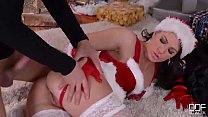 Mrs. Santa gets her fill of cock on X-mas eve - download porn videos