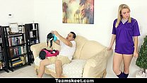 cfnmteens   soccer babe gets fucked with her panties on