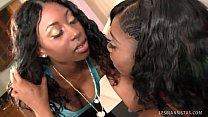 busty ebony lesbos get their freak on