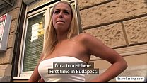 super sexy christen gets fucked by the huge cock tourist and gains cash