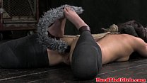 Puppy play with worthless skank
