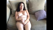 Busty old spunker home alone has a nice little ...
