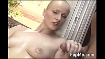 hot girl wanks a cock like never before