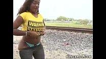 ebony moaning as hunk pounds her doggystyle