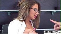 (Layla London) Busty Office Slut Girl In Hardco...