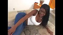 Young Black Teen w Big Tits in Ebony Blowjob Am...