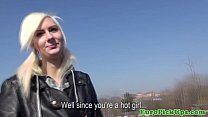 Pierced skater euro chick pounded outdoors thumb