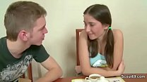 Brother Seduce Step-Sis to Fuck Anal When Paren...