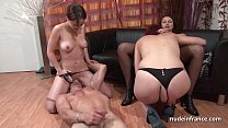 FFFM French babes hard analized and fist fucked... thumb