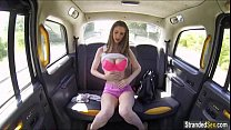 busty teen stella cox gets a free ride and cum from cab driver