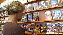 grandma miluska screwing a young video store clerk