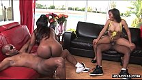 two plumpy black bitches with dick desire get fucked