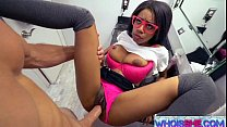 Nerdy Brittney White Creaming on Huge Cock