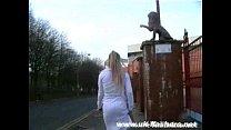 English blonde babe crystel lei flashing aston villa football stadium