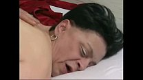 61 years old granny with nylons stocking