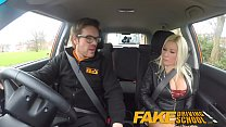 Fake Driving School squirting orgasm busty milf takes creampie after lesson porn videos