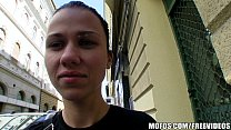 Natural Czech girl is paid cash to take a huge ... thumb