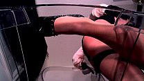Erotic hypnotist in shiny pantyhose and stockings porn videos