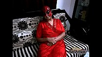 bigtits of amateur Indian housewife shilpa bhabhi in red sexy nighty thumbnail