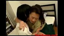 mom comforts son