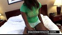 Cute ebony teen with a nice butt