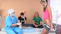 Doc assists with hymen examination and deflorat...