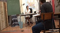 Gorgeous french teacher sodomized and facialize...