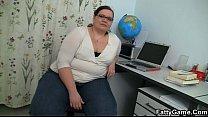 Slender stud seduced by plump teacher in nerdy glasses porn videos
