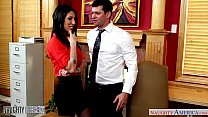 Busty brunette Dava Foxx gets pussy licked in t... thumb