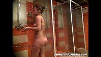 Hot teen caught on hidden cam at ShowerSpyCamer...