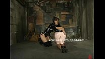Dominating brunette flogs and makes her submiss...