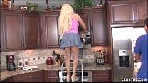 kitchen the in jerking milf Blonde