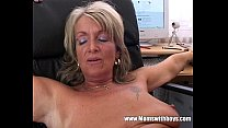 blonde mature office boss anal penetrated by applicant