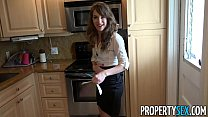 PropertySex - Hot real estate agent flirts with client and fucks his big cock porn videos