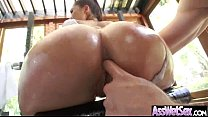 (london keyes) Slut Girl With Big Wet Olied But...