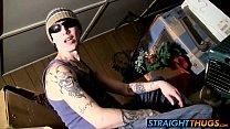tattooed bad boy blinx shows off how he masturbates