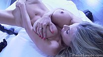 Busty Blonde Puma Swede Cums with New Vibrator!