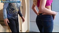 Disected bu Mick Blue - blonde in jeans and bla...