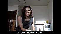 Gorgeous Japanese MiLF in an office suit sucks ... thumb