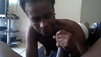 south african sebe sucking dick on couch, cumshot