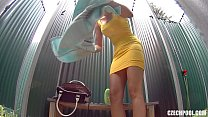voyeur shower tits firm with teen amazing pool Czech