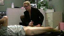 Employee gets masturbated by his horny lady boss thumb