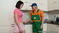 sex anal for kitchen her on waiting is Dasha