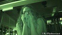 upskirt masturbation and naughty amateur voyeur touching herself in a restaurant