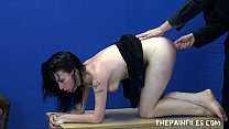 Extreme brutal blowjob and whipping of bdsm slu...